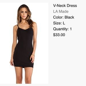 LA Made V-Neck Black Dress